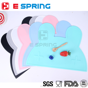 Personalized FDA Fancy Cute Rabbit Shape Baby Silicone Decorative Table Mat