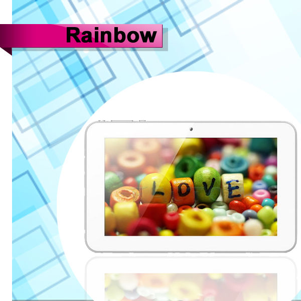 capacitive 7 inch tablet pc 2400mAh battery Ainol novo 7 Rianbow tablet pc