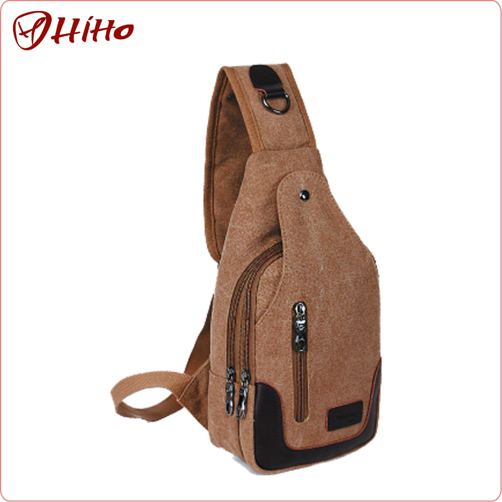 Vintage Canvas Leisure Waist Sling Bag For Men