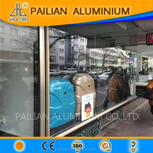 Frankfurt aluminium profile for show case, aluminum titanium gold shopwindow materail supplier of China