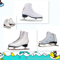 2016 own design for korea market inline waterproof white figure ice skating shoes & ice figure Skates shoes
