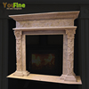 Decorative Caved Natural Indoor Marble Fireplace For Sale