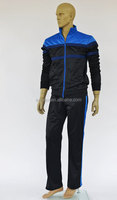 100% polyester tricot Men's running wear Sports jacket and pants suit