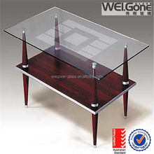 hot sale tempered glass top glass console table