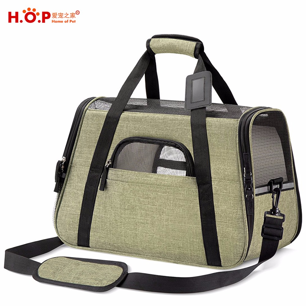 Amazon Hot Portable Soft Sided Travel Tote Bag Small Collapsible Pet Carrier Airline Approved