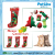 Manufacturing pet products XMAS stocking set pet dog and dog Christmas toy