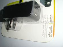 Dual USB AC Travel Chargers With LED Indicator and Through The CE/rohs