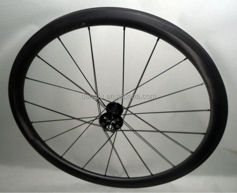 OEM carbon wheels DISC hub,full carbon bicycle wheel ,40mm carbon DISC ROAD bicycle Tubular wheels 27mm wider tyre