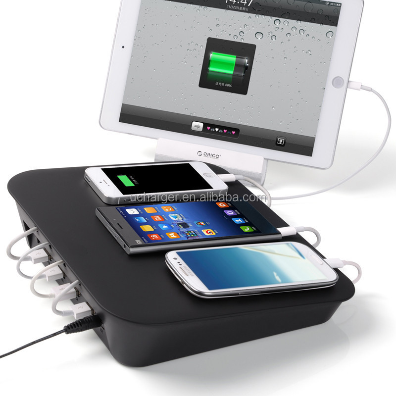 4 port USB charger station / restaurant charging station for all mobile device and tablet charging