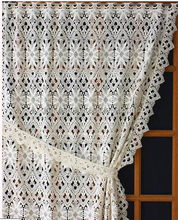 ready made macrame austrians living lace curtains