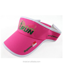 100% polyester running sun visor cap Sports dry fit running hat