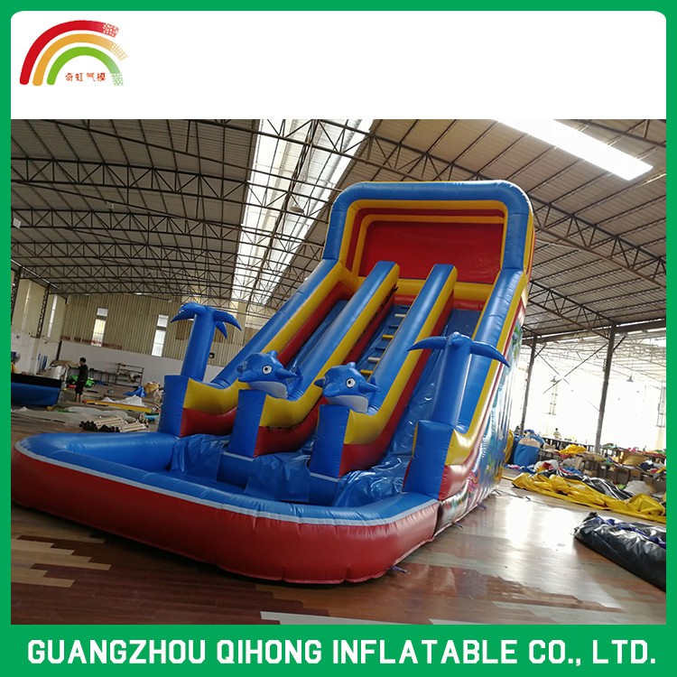 Durable Pvc Playground Water Park Inflatable Slide