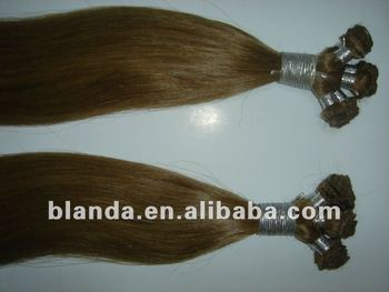 Virgin Hand Tied Weft Hair, Slightly Coarse Hair Weft Extension, Human Hair Weft