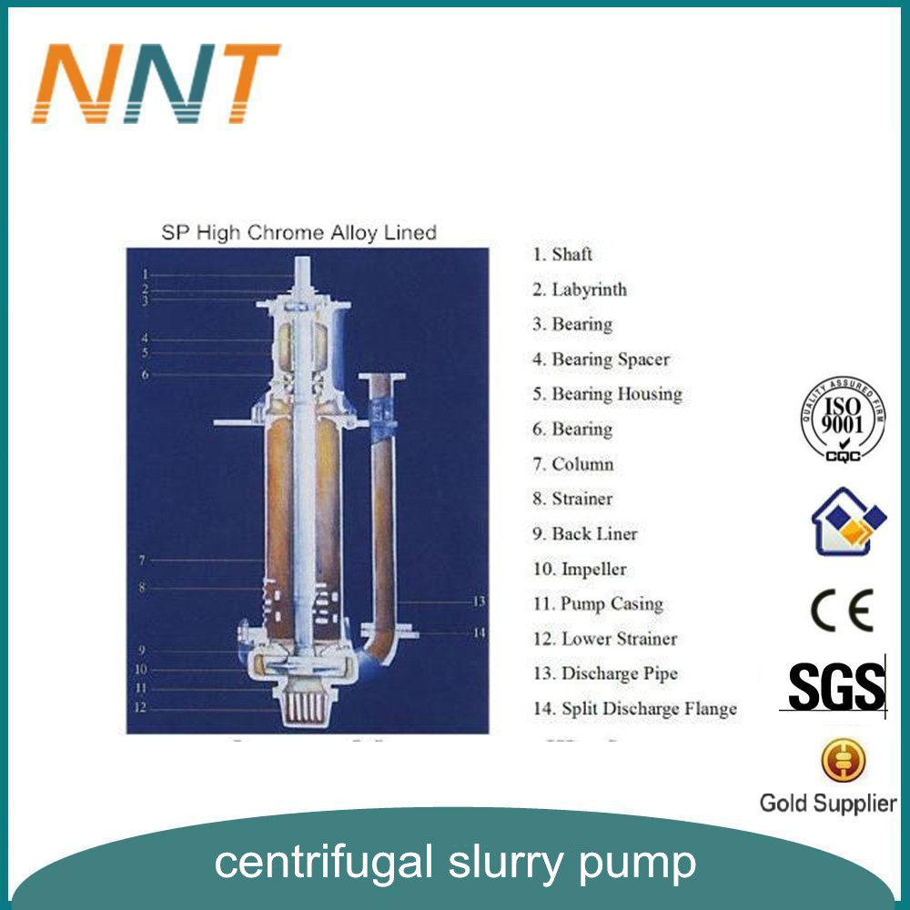Centrifugal Chemical Processing Solid Vertical Slurry Pump