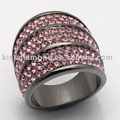 Pave pink crystal Rings