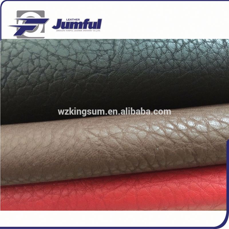Embossed PU leather material for office chair usage surface is similar leather emboss