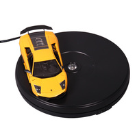 dia 25cm ,h4cm electric 360 degree rotary LED light gondola motorized display bases/ base