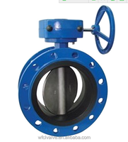 ductile iron double flange butterfly valve