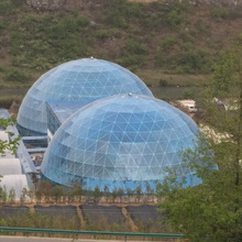 30m half sphere geodesic dome restaurant tent , fashion dome shaped tent for party events