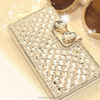 Luxury Bling Diamond & Crystal Wallet Stand Flip Leather Card Slot Phone Bag Case Cover For Samsung Galaxy Note 4 IV Note 3 III