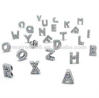 free shipping Zinc alloy slide charms for bracelets