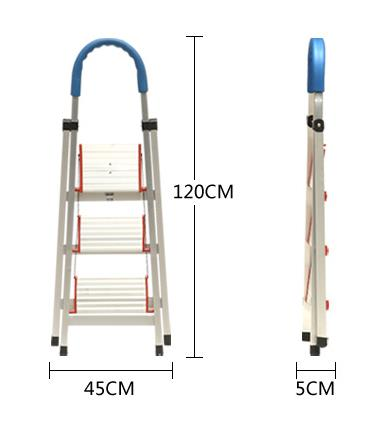 Aluminum three section extension ladder.,aluminum pipe ladder,step ladder chair combination