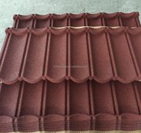 Color Stone Coated Bond Shingle Classic Roof Tile Sheet , Cheap Building Material Steel Roof Price