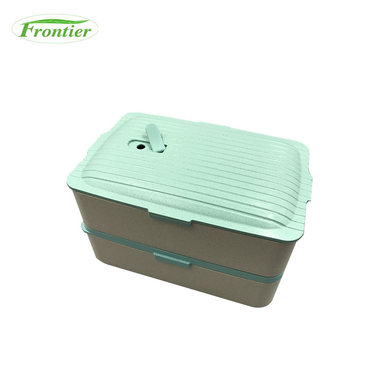New Design Biodegradable wheat fiber small hard lunch box for sale