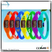 Wholesale cheap promotional 3 atm waterproof anion negative wrist bracelet silicone watch