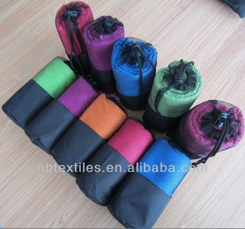 microfiber sport towel with mesh bag
