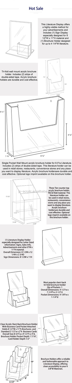Custom Transparent Acrylic Photo Frame Insert Logo Holder Acrylic - Table tent size