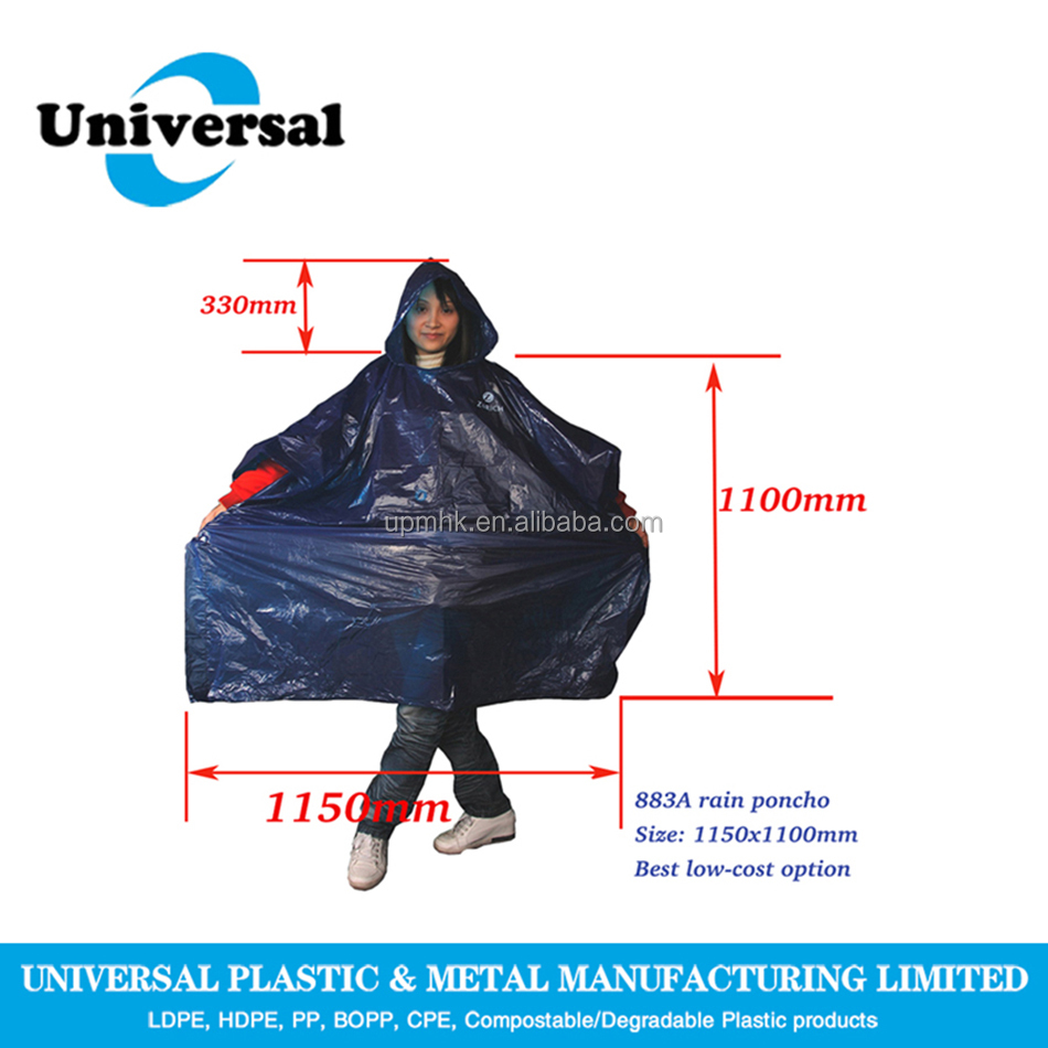 Unisex Disposable Raincoat, Disposable Poncho with sleeves