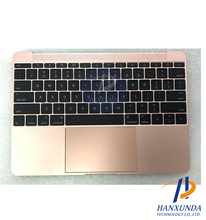 A1534 Gold topcase+touchpad+keyboard+Sound card for 12 inch laptop 2016 year replacement