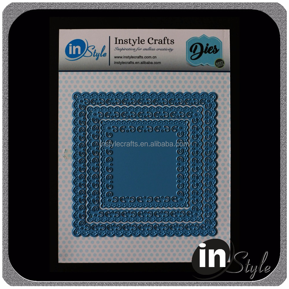 Square metal cutting dies crafting die stencil for scrapbooking and card making