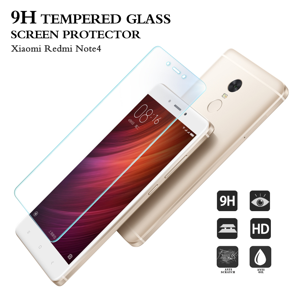 2016 New explosion proof raw material for cell phone screen protector film for Xiaomi Redmi Note 4 tempered glass