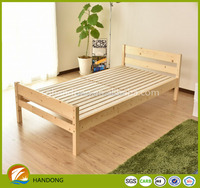 Japanese style simple solid pine wood folding single bed