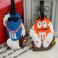 2014 latest new handmade luggage tags with creative idea,Popular cartoon style lovely product cheap bulk luggage tag