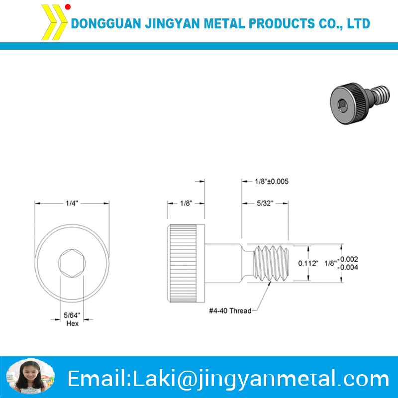 Aluminium shoulder screw
