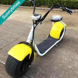 2016 newest 18inch big wheel China citycoco 2 wheels off road electric motorcycle