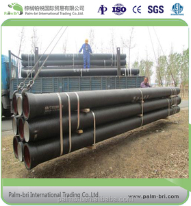 China factory ductile iron pipes used for water pipelines prices with push-on or flange joint