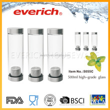 500ml high quality private label borosilicate glass mug with infuser