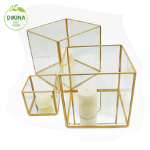 A**** Glass Centerpieces Tall Vases Wedding Event Decorations Flower Arrangements Vase Clear cube geometric glass flower vase