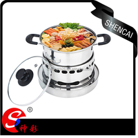 stainless steel alcohol stove with pot camping cook pot