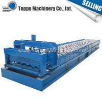 Building material construction assured quality glazed galvanised iron roof tile making machine new