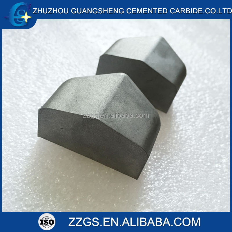 Cemented carbide shield cutter tip for tunnel boring machine