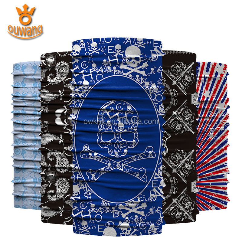 Multifunctional Fashion Accessories Motorcycle Face Mask Tube Seamless Magic Outdoor Headwear Bandana Custom