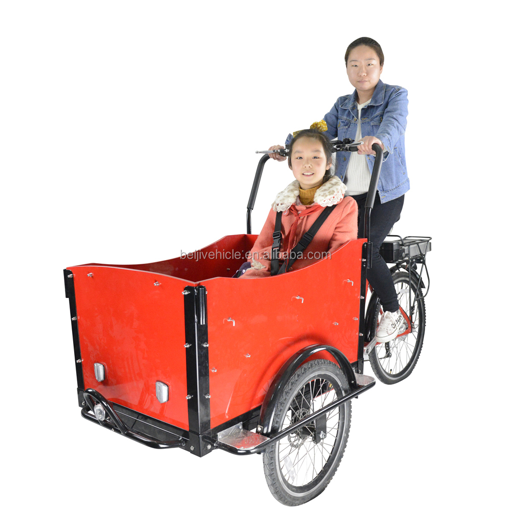 CE Danish bakfiets 250w adult pedal car for transport cargo bike with pedal