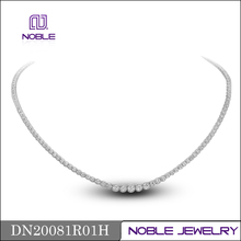 latest design saudi 18K white gold jewelry necklace