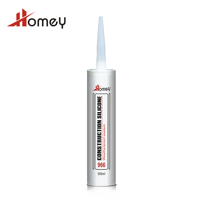 Homey 966 high quality fast curing weatherproof weatherproof construction silicone neutral transparent sealant