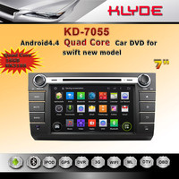 hot sale Android4.4 quad core 1024*600 touch screen ROM 16G car dvd GPS audio for Suzuki swift